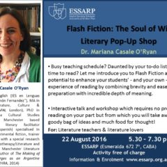 Flash Fiction: The Soul of Wit. Literary Pop-Up Shop